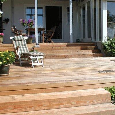 sibirisk lærk terrasse